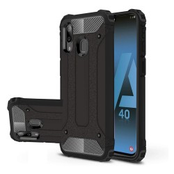 Funda Tipo Hybrid Tough Armor (Pc+Tpu) Negra para Samsung Galaxy A40