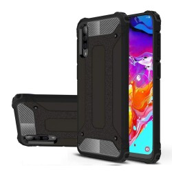 Funda Tipo Hybrid Tough Armor (Pc+Tpu) Negra para Samsung Galaxy A70