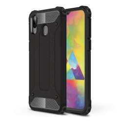 Funda Tipo Hybrid Tough Armor (Pc+Tpu) Negra para Samsung Galaxy M20