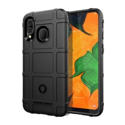 Funda Armor Rugged Shield Antigolpes para Samsung Galaxy A40 color Negra
