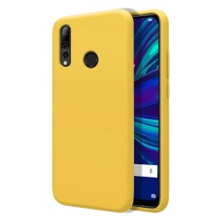 Funda Silicona Líquida Ultra Suave para Huawei P Smart + Plus 2019 color Amarilla
