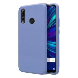 Funda Silicona Líquida Ultra Suave para Huawei P Smart + Plus 2019 color Azul Celeste