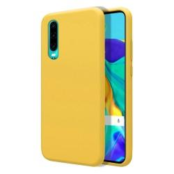 Funda Silicona Líquida Ultra Suave para Huawei P30 color Amarilla