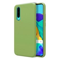 Funda Silicona Líquida Ultra Suave para Huawei P30 color Verde