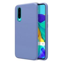 Funda Silicona Líquida Ultra Suave para Huawei P30 color Azul Celeste