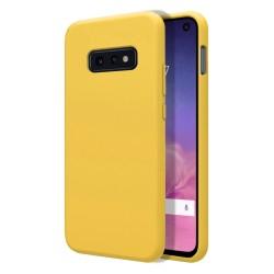 Funda Silicona Líquida Ultra Suave para Samsung Galaxy S10e color Amarilla