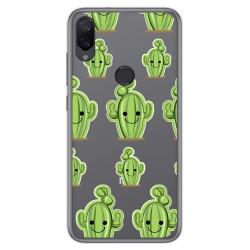 Funda Gel Transparente para Xiaomi Mi Play diseño Cactus Dibujos