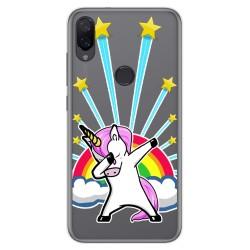 Funda Gel Transparente para Xiaomi Mi Play diseño Unicornio Dibujos