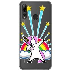 Funda Gel Transparente para Huawei P Smart Plus 2019 diseño Unicornio Dibujos