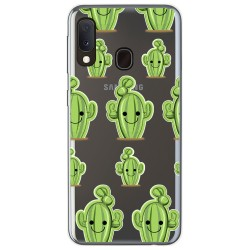 Funda Gel Transparente para Samsung Galaxy A20e 5.8 diseño Cactus Dibujos