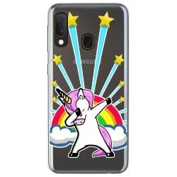 Funda Gel Transparente para Samsung Galaxy A20e 5.8 diseño Unicornio Dibujos
