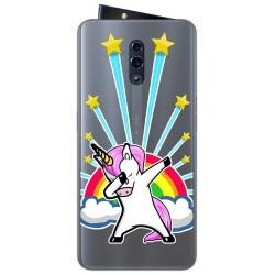 Funda Gel Transparente para Oppo Reno diseño Unicornio Dibujos