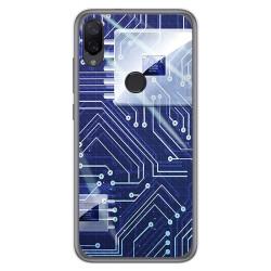 Funda Gel Tpu para Xiaomi Mi Play diseño Circuito Dibujos