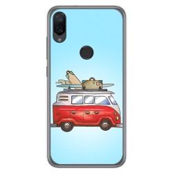 Funda Gel Tpu para Xiaomi Mi Play diseño Furgoneta Dibujos