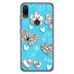 Funda Gel Tpu para Xiaomi Mi Play diseño Mariposas Dibujos