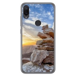 Funda Gel Tpu para Xiaomi Mi Play diseño Sunset Dibujos