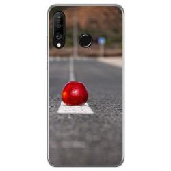 Funda Gel Tpu para Huawei P30 Lite diseño Apple Dibujos