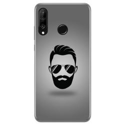 Funda Gel Tpu para Huawei P30 Lite diseño Barba Dibujos