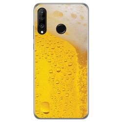 Funda Gel Tpu para Huawei P30 Lite diseño Cerveza Dibujos