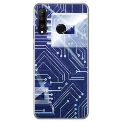 Funda Gel Tpu para Huawei P30 Lite diseño Circuito Dibujos