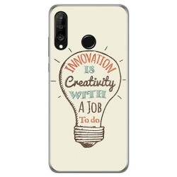 Funda Gel Tpu para Huawei P30 Lite diseño Creativity Dibujos