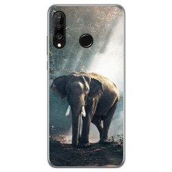 Funda Gel Tpu para Huawei P30 Lite diseño Elefante Dibujos