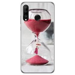 Funda Gel Tpu para Huawei P30 Lite diseño Reloj Dibujos