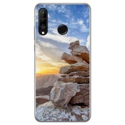 Funda Gel Tpu para Huawei P30 Lite diseño Sunset Dibujos