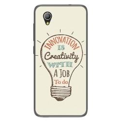 Funda Gel Tpu para Alcatel 1 2019 diseño Creativity Dibujos