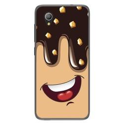 Funda Gel Tpu para Alcatel 1 2019 diseño Helado Chocolate Dibujos