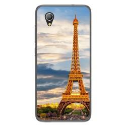 Funda Gel Tpu para Alcatel 1 2019 diseño Paris Dibujos