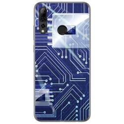 Funda Gel Tpu para Huawei P Smart Plus 2019 diseño Circuito Dibujos