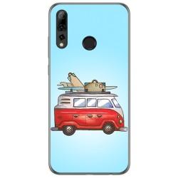 Funda Gel Tpu para Huawei P Smart Plus 2019 diseño Furgoneta Dibujos