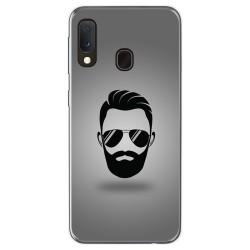 Funda Gel Tpu para Samsung Galaxy A20e 5.8 diseño Barba Dibujos