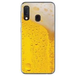 Funda Gel Tpu para Samsung Galaxy A20e 5.8 diseño Cerveza Dibujos