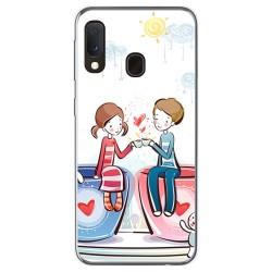 Funda Gel Tpu para Samsung Galaxy A20e 5.8 diseño Café Dibujos