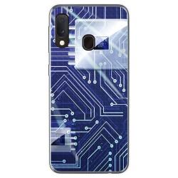 Funda Gel Tpu para Samsung Galaxy A20e 5.8 diseño Circuito Dibujos