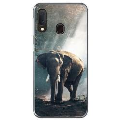 Funda Gel Tpu para Samsung Galaxy A20e 5.8 diseño Elefante Dibujos