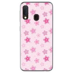 Funda Gel Tpu para Samsung Galaxy A20e 5.8 diseño Flores Dibujos