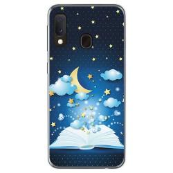 Funda Gel Tpu para Samsung Galaxy A20e 5.8 diseño Libro Cuentos Dibujos