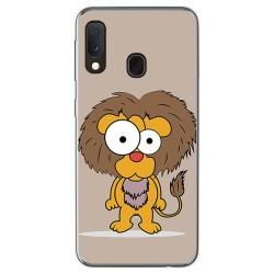 Funda Gel Tpu para Samsung Galaxy A20e 5.8 diseño Leon Dibujos
