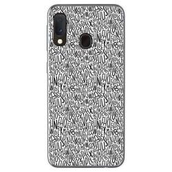 Funda Gel Tpu para Samsung Galaxy A20e 5.8 diseño Letras Dibujos
