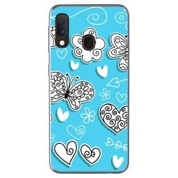 Funda Gel Tpu para Samsung Galaxy A20e 5.8 diseño Mariposas Dibujos