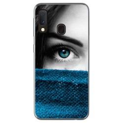 Funda Gel Tpu para Samsung Galaxy A20e 5.8 diseño Ojo Dibujos