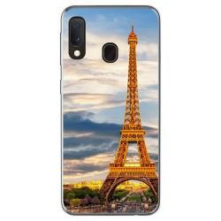 Funda Gel Tpu para Samsung Galaxy A20e 5.8 diseño Paris Dibujos