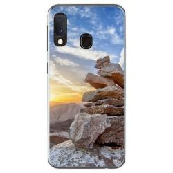 Funda Gel Tpu para Samsung Galaxy A20e 5.8 diseño Sunset Dibujos