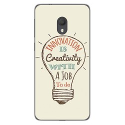 Funda Gel Tpu para Alcatel 1C 2019 diseño Creativity Dibujos