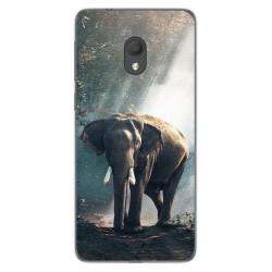 Funda Gel Tpu para Alcatel 1C 2019 diseño Elefante Dibujos