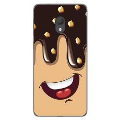 Funda Gel Tpu para Alcatel 1C 2019 diseño Helado Chocolate Dibujos