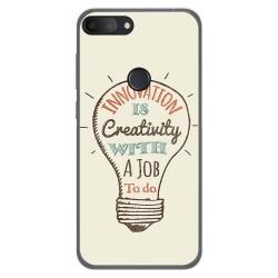 Funda Gel Tpu para Alcatel 1S 2019 diseño Creativity Dibujos